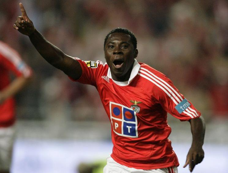 Benfica's Adu celebrates his goal against Maritimo
