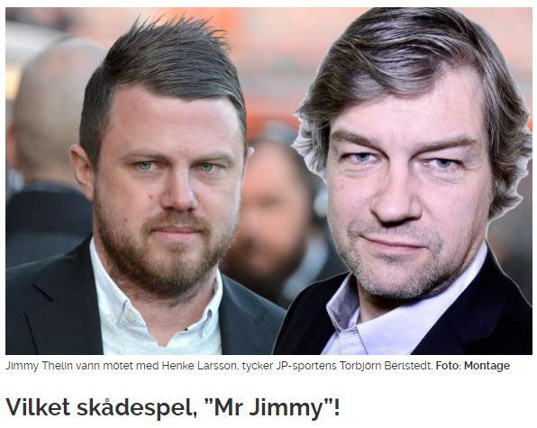 super popular 019ae 8d919 Sen måste man bara älska »Mr Jimmy«-profileringen av tränaren Jimmy Thelin.