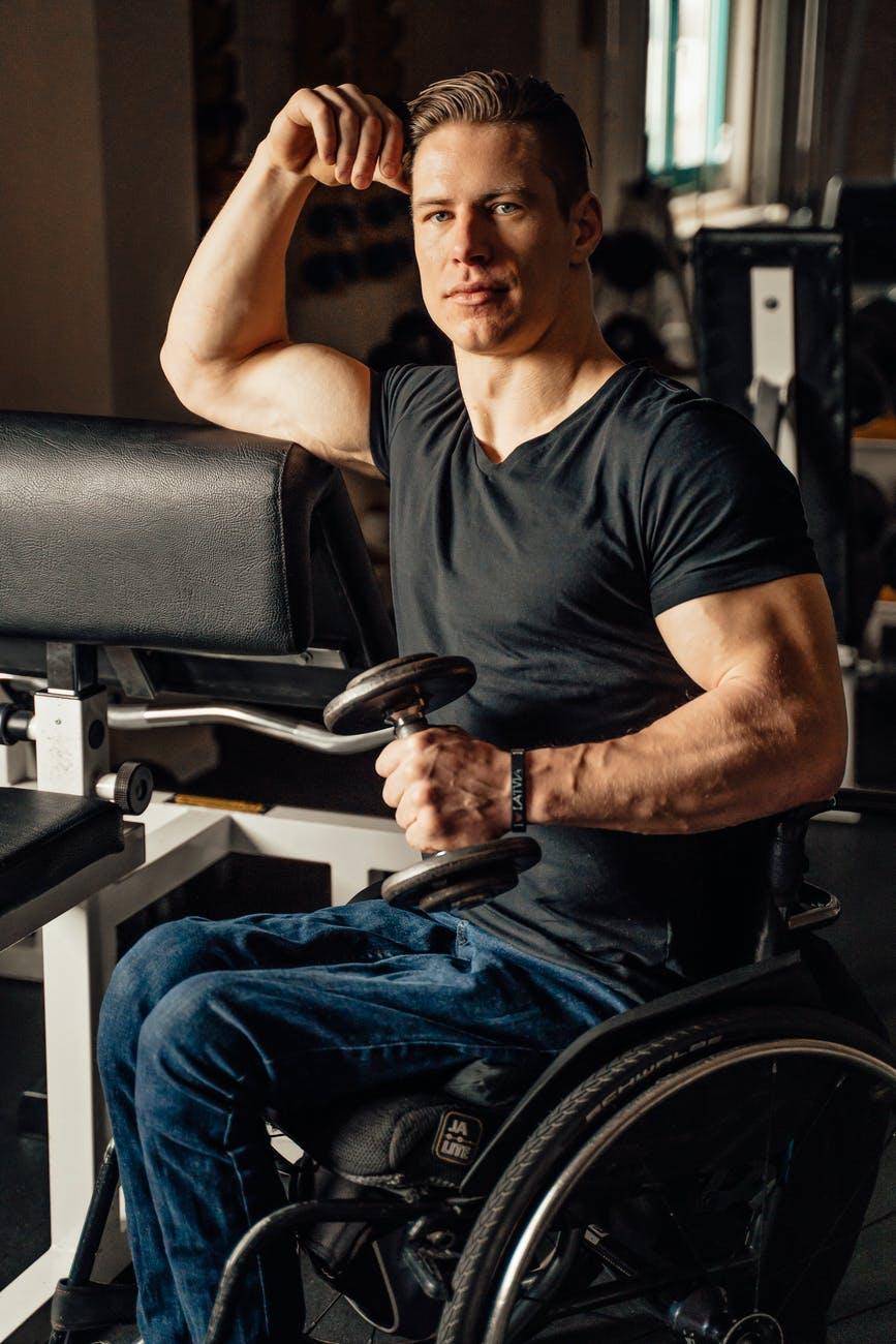 man sitting sport health